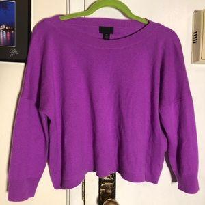 NWT Bright Purple Cashmere Sweater
